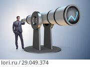 Купить «Businessman in financial planning business concept», фото № 29049374, снято 20 октября 2018 г. (c) Elnur / Фотобанк Лори