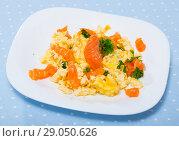 Купить «Smoked salmon omelette», фото № 29050626, снято 20 сентября 2018 г. (c) Яков Филимонов / Фотобанк Лори
