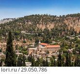 Купить «Franciscan Monastery of St. John the Baptist. Jerusalem (Ein Karem). Israel.», фото № 29050786, снято 9 июня 2018 г. (c) Наталья Волкова / Фотобанк Лори