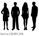 Купить «Silhouettes of people of women and men», иллюстрация № 29051154 (c) Мастепанов Павел / Фотобанк Лори