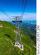 Funicular pole support ropes, the road to Zakopane from Kasprowy Wierch, Poland. Стоковое фото, фотограф Константин Лабунский / Фотобанк Лори