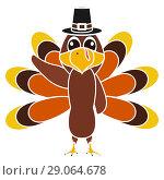 Купить «Turkey Pilgrimin on Thanksgiving Day», иллюстрация № 29064678 (c) Мастепанов Павел / Фотобанк Лори