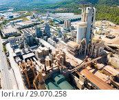 Купить «Cement production plant», фото № 29070258, снято 16 октября 2018 г. (c) Яков Филимонов / Фотобанк Лори