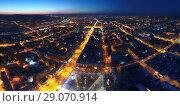 Купить «Ночная панорама города Чита, Забайкальский край», фото № 29070914, снято 3 января 2018 г. (c) Геннадий Соловьев / Фотобанк Лори
