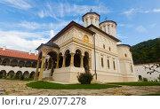 Купить «Church at Horezu Monastery, Romania», фото № 29077278, снято 22 сентября 2017 г. (c) Яков Филимонов / Фотобанк Лори