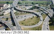Купить «Image of car interchange of Barcelona in the Spain.», видеоролик № 29083982, снято 12 июня 2018 г. (c) Яков Филимонов / Фотобанк Лори