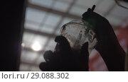 Купить «Sipping cocktail with straw», видеоролик № 29088302, снято 22 мая 2019 г. (c) Данил Руденко / Фотобанк Лори