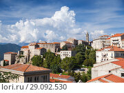 Купить «Sartene landscape, old town of Corsica», фото № 29092530, снято 19 августа 2018 г. (c) EugeneSergeev / Фотобанк Лори