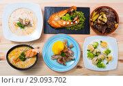 Купить «Set of Norwegian dishes», фото № 29093702, снято 23 сентября 2018 г. (c) Яков Филимонов / Фотобанк Лори