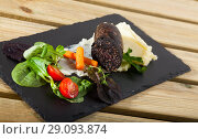Купить «Black pudding sausage», фото № 29093874, снято 25 августа 2018 г. (c) Яков Филимонов / Фотобанк Лори