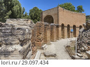Ancient Odeon, Gortyn, Crete, Greece. Стоковое фото, фотограф Ivan Vdovin / age Fotostock / Фотобанк Лори