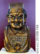 Купить «Gilt-bronze head of Buddhist guardian figure. Chinese, Yuan Dynasty (1300-50) British Museum, Bloomsbury, London, England, UK.», фото № 29098194, снято 31 августа 2018 г. (c) age Fotostock / Фотобанк Лори