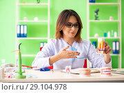 Купить «Woman dentist working on teeth implant», фото № 29104978, снято 11 июня 2018 г. (c) Elnur / Фотобанк Лори
