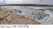 Купить «Ороновский порог на реке Рыбной, плато Путорана», фото № 29110910, снято 16 декабря 2018 г. (c) Сергей Дрозд / Фотобанк Лори