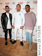Купить «'Kicks' Special screening at the Curzon Aldgate Featuring: Christopher Jordan Wallace, Justin Tipping, Chris Eubank Jr Where: London, United Kingdom When: 16 May 2017 Credit: WENN.com», фото № 29113670, снято 16 мая 2017 г. (c) age Fotostock / Фотобанк Лори