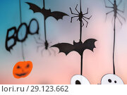 Купить «halloween party garlands or decorations», фото № 29123662, снято 6 июля 2017 г. (c) Syda Productions / Фотобанк Лори