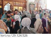 Купить «Престольный праздник в Бобреневе монастыре», эксклюзивное фото № 29124526, снято 21 сентября 2018 г. (c) Дмитрий Неумоин / Фотобанк Лори