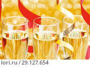 Купить «Champagne and ribbons», фото № 29127654, снято 28 сентября 2013 г. (c) Иван Михайлов / Фотобанк Лори