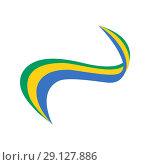 Купить «Ribbon in the color of the flag of Gabon», иллюстрация № 29127886 (c) Мастепанов Павел / Фотобанк Лори