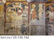 Купить «Fresco painting in the cathedral crypt, Anagni, Frosinone, Lazio, Italy.», фото № 29130142, снято 5 марта 2018 г. (c) age Fotostock / Фотобанк Лори