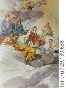 Купить «Ceiling fresco painting, Galleria Nazionale d'Arte Antica, GNAA, National Gallery of Ancient Art, art gallery, Palazzo Barberini, Rome, Lazio, Italy.», фото № 29130638, снято 9 марта 2018 г. (c) age Fotostock / Фотобанк Лори