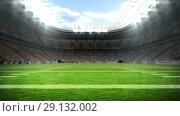 Купить «Digitally generated video of football stadium 4k», видеоролик № 29132002, снято 26 марта 2019 г. (c) Wavebreak Media / Фотобанк Лори