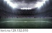 Купить «Digitally generated video of football stadium 4k», видеоролик № 29132010, снято 26 марта 2019 г. (c) Wavebreak Media / Фотобанк Лори
