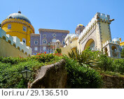 Купить «The Pena Palace. Sintra. Portugal», фото № 29136510, снято 3 июля 2016 г. (c) Serg Zastavkin / Фотобанк Лори