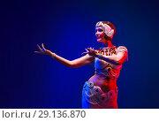 Купить «Beautiful oriental dancer in a white pearl costume», фото № 29136870, снято 22 ноября 2019 г. (c) Игорь Бородин / Фотобанк Лори