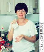 Купить «negative mature woman», фото № 29138038, снято 17 октября 2018 г. (c) Яков Филимонов / Фотобанк Лори