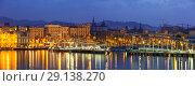 Купить «panorama of Port Vell at Barcelona», фото № 29138270, снято 16 января 2019 г. (c) Яков Филимонов / Фотобанк Лори