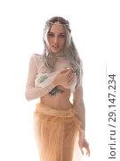 Купить «Gorgeous girl in the image of a sexy elf shot», фото № 29147234, снято 14 августа 2018 г. (c) Гурьянов Андрей / Фотобанк Лори