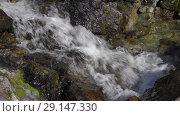 Купить «Горный ручей», видеоролик № 29147330, снято 28 сентября 2018 г. (c) А. А. Пирагис / Фотобанк Лори