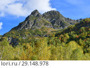 Купить «Россия. Осень в Архызских горах», фото № 29148978, снято 18 сентября 2018 г. (c) Овчинникова Ирина / Фотобанк Лори