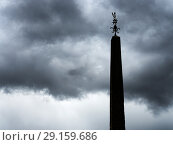 Купить «Summer storm clouds hathering over The Obelisk in the Market Place at Ripon Yorkshire England.», фото № 29159686, снято 10 августа 2018 г. (c) age Fotostock / Фотобанк Лори