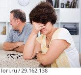 Купить «Sad mature woman experiencing family problems», фото № 29162138, снято 23 мая 2020 г. (c) Яков Филимонов / Фотобанк Лори