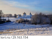 Купить «Зимний пейзаж, Православный Ипатьевский мужской монастырь», фото № 29163154, снято 16 мая 2019 г. (c) ElenArt / Фотобанк Лори