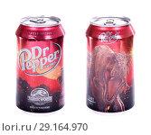Купить «Dr Pepper Jurassic World Edition», фото № 29164970, снято 2 октября 2018 г. (c) Art Konovalov / Фотобанк Лори