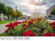 Купить «Санкт-Петербург. Здание Правительства области», фото № 29165242, снято 21 сентября 2018 г. (c) Baturina Yuliya / Фотобанк Лори