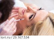Купить «Woman visiting doctor for plastic surgery», фото № 29167534, снято 13 апреля 2018 г. (c) Elnur / Фотобанк Лори