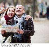Купить «Mature spouses with paper map», фото № 29172886, снято 18 октября 2018 г. (c) Яков Филимонов / Фотобанк Лори