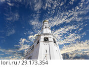 Купить «Ivan the Great Bell Tower (Kolokolnya Ivana Velikogo). Inside of Moscow Kremlin, Russia (day).», фото № 29173354, снято 11 мая 2018 г. (c) Владимир Журавлев / Фотобанк Лори