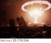 Купить «nuclear explosion», фото № 29178594, снято 21 января 2020 г. (c) Виктор Застольский / Фотобанк Лори