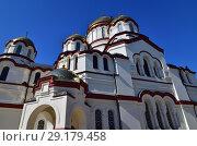 Купить «fragment of temple in Novy Afonsky for men Monastery in Abkhazia», фото № 29179458, снято 3 июня 2018 г. (c) Володина Ольга / Фотобанк Лори