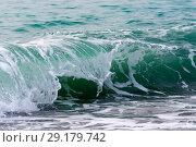 Купить «Raging Black Sea. Big wave with sea foam», фото № 29179742, снято 19 ноября 2017 г. (c) Алексей Дмецов / Фотобанк Лори