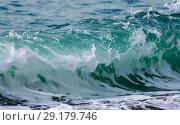 Raging Black Sea. Big wave with sea foam. Стоковое фото, фотограф Алексей Дмецов / Фотобанк Лори