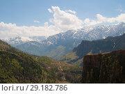 Вид на верховья долины Кулу. Гималаи, Северная Индия (2011 год). Стоковое фото, фотограф Виктор Карасев / Фотобанк Лори