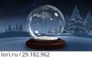 Купить «Sparkling light spirally moving around the snow globe», видеоролик № 29182962, снято 16 октября 2018 г. (c) Wavebreak Media / Фотобанк Лори