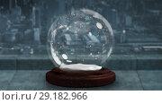 Купить «Sparkling light spirally moving around snow globe 4k», видеоролик № 29182966, снято 16 июля 2019 г. (c) Wavebreak Media / Фотобанк Лори
