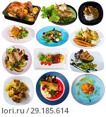 Купить «Set of poultry food isolated», фото № 29185614, снято 21 июля 2019 г. (c) Яков Филимонов / Фотобанк Лори